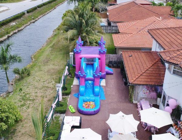 Pink Water Slide Rental